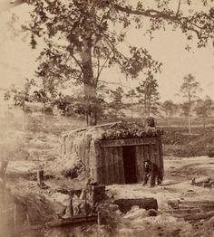"""Bombproof"" restaurant on the Petersburg Line, American Civil War, 1865."