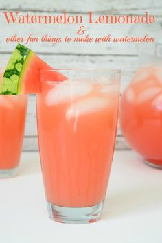 Watermelon Lemonade and Other Fun Things to Make with Watermelon - Almost Supermom