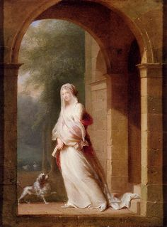 Young Woman Standing in an Archway, Jean-Baptiste Mallet
