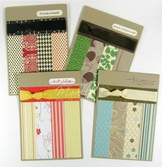 set of handmade cards ... design perfect for patterned paper scraps ... Stampin' Up!