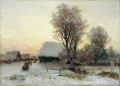 A Winter's Evening - Gavriil Kondratenko - (Russian, 1854 - 1924)