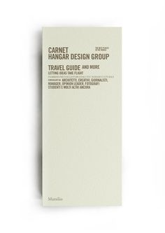 Travel guide for creative people by creative people. Editorial project of Hangar Design Group
