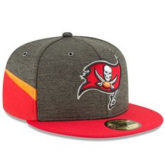new product 34473 8bd20 Men s Tampa Bay Buccaneers New Era Pewter Red 2018 NFL Sideline Home  Official 59FIFTY