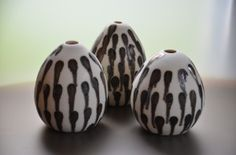 egg-shaped vessels from my last firing (by Katharina Klug.)
