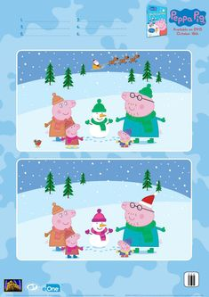 Peppa Pig Spot The Differences Activity Page Free Christmas Printables, Printable Crafts, Peppa Pig Drawing, Spot The Difference Kids, Peppa Pig Printables, Peppa Pig Coloring Pages, Peppa Pig Teddy, Learning English For Kids, Pig Birthday