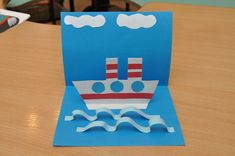 Diy For Kids, Cool Kids, Crafts For Kids, Boat Theme, Ocean Crafts, Pop Up Cards, Easy Diy Crafts, Fun Learning, Diy Cards