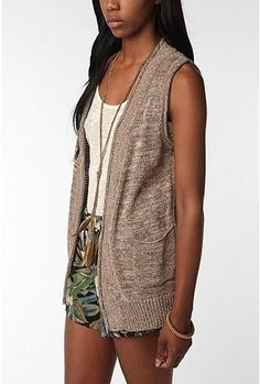 "Urban Outfitters | byCORPUS Open Sweater Vest in ""Brown"" - StyleSays"