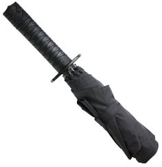 Kikkerland Mini Samurai Sword Umbrella Product Features Handle of a samurai sword Push button open Comes with shoulder strap Canopy measures diameter when open Measures long < GET IT HERE > Golf Umbrella, Folding Umbrella, Ninja Sword, Novelty Toys, Samurai Swords, Consumerism, Christmas Shopping, Boxer, Cool Stuff