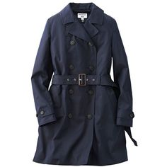 UNIQLO Ines Trench Coat (€115) ❤ liked on Polyvore featuring outerwear, coats, trench coat, uniqlo coats and uniqlo