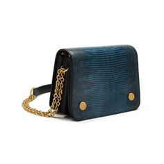 Mulberry - Small Clifton in Army Blue Lizard Varano & Nappa Leather