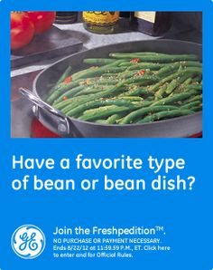 Have a favorite type of bean or bean dish?  Green Beans in a Tomatoe sauce with chopmeat.    #GEFreshNC