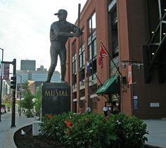 Stan Musial statue at Busch Stadium in St Louis