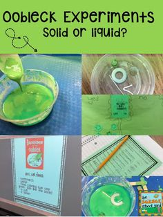 Time For Oobleck in the Science School Yard. Simple Science Lessons and directions all set to go...