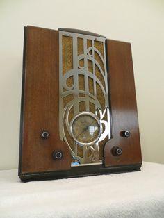 Vintage 1930s Old Zenith Art Deco Machine Age Depression Era Chrome Tube Radio   eBay