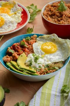 Quick and Easy Huevos Rancheros Quinoa Power Bowls