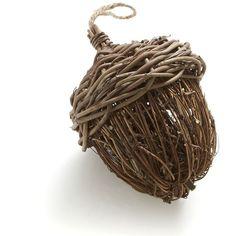 Crate & Barrel Woven Small Acorn