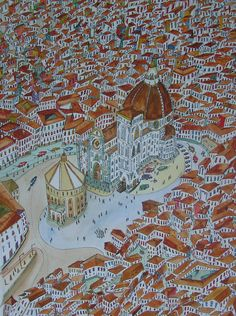 Florence, 2012 -- watercolor by Adrian Green.