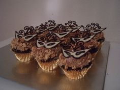 Masquerade Cupcakes by partystarr, via Flickr