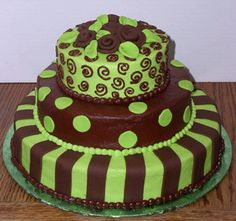 Cool Birthday Cakes On Green For Girls