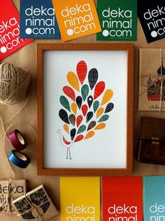 A Little colorful Peacock Print by dekanimal on Etsy, $25.00