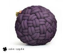 40% off - mini KNOTTY floor cushion 50x50x30 cm (aubergine)