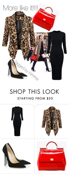 """""""More like it!!!!"""" by taggedbykimmie15 on Polyvore featuring WithChic, LE3NO, Jimmy Choo and Dolce&Gabbana"""