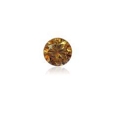 0.42 ct Yellow OrangeRound Brilliant Diamond - www.thegembank.com