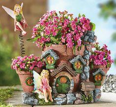 Collections Etc - Fairy House Garden Planter