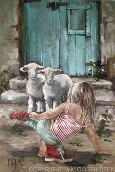 Original Fine Art Painting by Maria Magdalena Oosthuizen. Medium: Acrylic on Canvas. Stretched, and Blocked, Not Framed. Dimensions: Width (mm) Height (mm) Dept