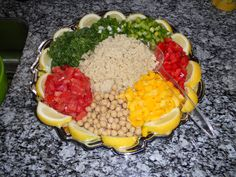 Couscous Veggie Salad                      Add humus for dressing and a fork!