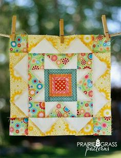 Summer Star Block: A Free Quilt Block Pattern