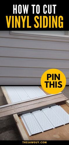DIY tools / techniques Vinyl siding is relatively cheap, is easy to install and low maintenance, and Vinyl Soffit, Vinyl Siding Installation, Siding Repair, House Cladding, House Siding, Siding Materials, Home Repairs, Diy Home Improvement, Home Renovation