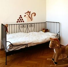 Removable decals for the walls the 'Brown Squirrel' set makes a great addition to decorating the walls of any little girls or boys room. #room #decorations