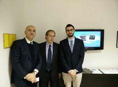 Marco Eugenio Di Giandomenico insieme a Gaston Lasarte (Console Generale dell'Uruguay) e Fernando Berardi (Presidente di Saronno Cultura) (Saronno, 11 dicembre 2014)