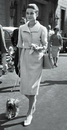 Audrey Hepburn in Rome, 1959.