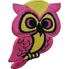 Pink Owl Embroidered Iron / Sew On Patch Bag Jacket Shirt Jeans Badge Transfer Size 4.5 cm Width and 6.6 cm Height. How to Iron on a Patch Lay your cloth on a f