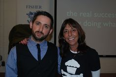 Johnny Cupcakes and his mother Lorraine, a Fisher College Alum. - Fisher College -