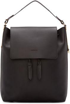 0f12bc172b6d Sophie Hulme - Black Leather Claremont Backpack Sophie Hulme