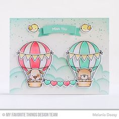 """434 Likes, 18 Comments - Melania Deasy (@melaniadeasy) on Instagram: """"Card for @mftstamps April Release Replay. Up in the Air stamp set is so cute!!! More on my blog -…"""""""