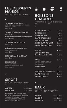 A division of UnderConsideration, cataloguing the underrated creativity of menus from around the world. Porte Menu Restaurant, Restaurant Branding, Booklet Layout, Menu Layout, Cafe Menu Design, Food Menu Design, Coffee Shop Menu, Coffee Shop Design, French Cafe Menu