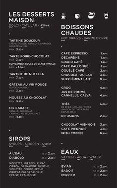 KIOSK menu layout