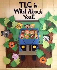 Back to School Bulletin Board. Animal Jungle Theme - Back to School Bulletin Board. Animal Jungle Theme Back to School Bulletin Board.