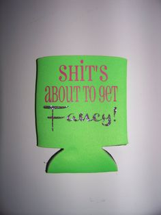 Personalized/Monogrammed Can Koozie, Can Coozie #shitsabouttogetfancy #fancy #koozie