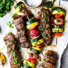 room Shrimp Stew, Seafood Stew, Shrimp Recipes, Veggie Recipes, Cooking Recipes, Grilled Veggies, Grilled Asparagus, Ways To Cook Eggplant, Cilantro Chimichurri