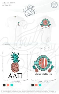 Alpha Delta Pi | ADPi | Pineapple Graphic | Pineapple Tank | Tropical Sorority Tank | South by Sea | Sorority Shirts | Sorority Tanks | Greek Shirts