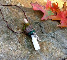 Dog Wood, Danburite, Malachite, Serpent Shamanic Traveling Healing Wand Magic Wand Native American OOAK Crystal Jewelry Animal Spirit Guide