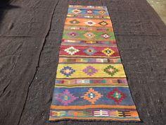 Colorful Rug Feet Cm Hallway by lidyakilimrug Babe, Floor Decor, Turkish Kilim Rugs, Floor Rugs, Runes, Rug Runner, Colorful Rugs, Bohemian Rug, Art Deco