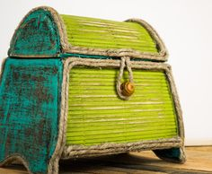 Lime Green Decor / Lime Green Jewelry Box by InterestingInteriors, $35.00