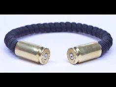 Make a Bullet Casing Paracord Bracelet - BoredParacord.com - YouTube