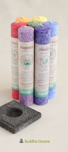 This set of 7 colorful chakra candles is perfect for healing and balance. Each pillar candle is made from eco-friendly palm wax and a blend of essential oils. The palm wax is sourced from countries who are committed to responsible farm practices.